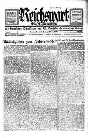 Reichswart vom 10.01.1925