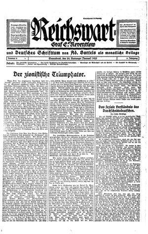 Reichswart vom 24.01.1925