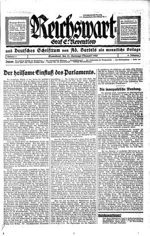 Reichswart vom 31.01.1925