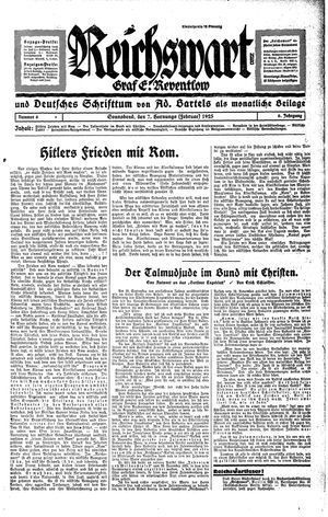 Reichswart vom 07.02.1925