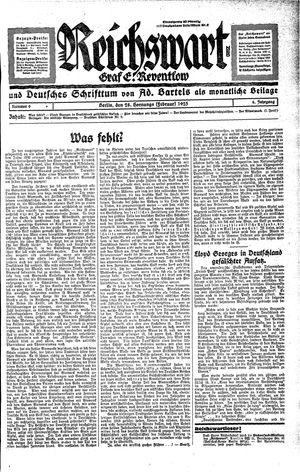Reichswart on Feb 28, 1925
