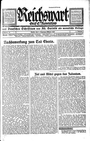 Reichswart vom 07.03.1925