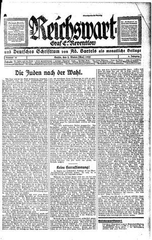 Reichswart vom 02.05.1925