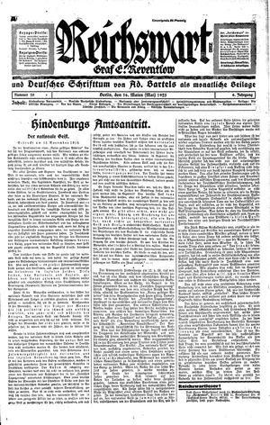 Reichswart vom 16.05.1925