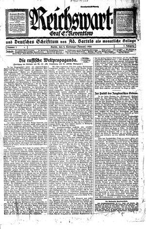 Reichswart vom 02.01.1926