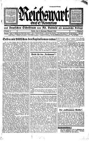 Reichswart vom 09.01.1926