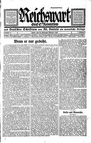 Reichswart vom 23.01.1926