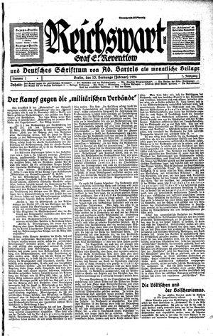 Reichswart vom 13.02.1926