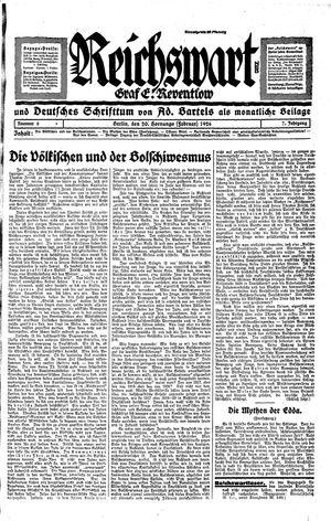 Reichswart vom 20.02.1926