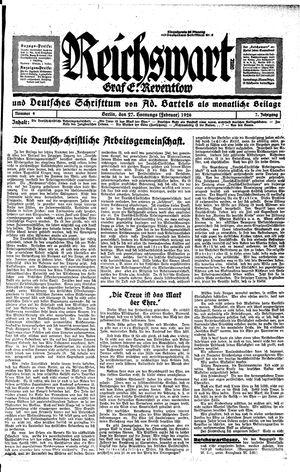 Reichswart on Feb 27, 1926