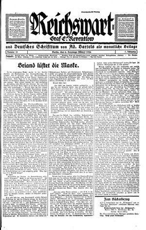 Reichswart vom 06.03.1926