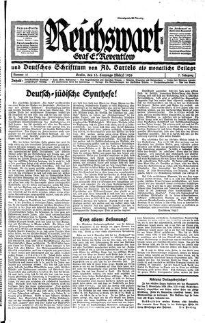 Reichswart vom 13.03.1926