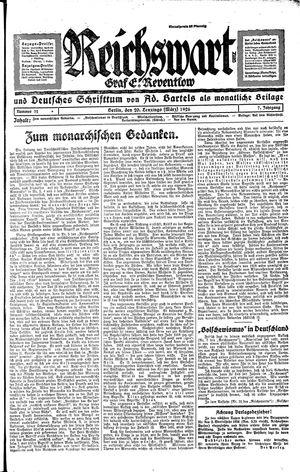 Reichswart vom 20.03.1926