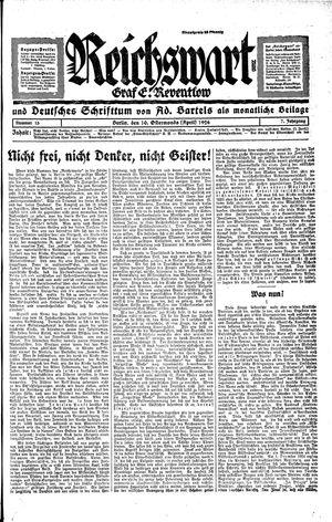 Reichswart vom 10.04.1926
