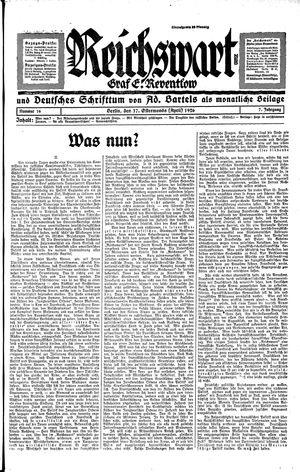 Reichswart vom 17.04.1926