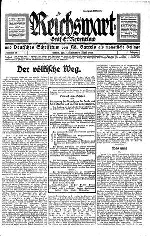 Reichswart vom 01.05.1926