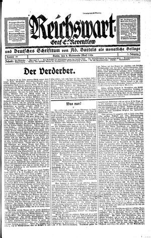 Reichswart vom 08.05.1926