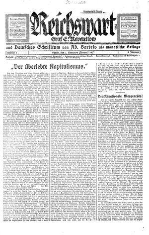 Reichswart vom 01.01.1927