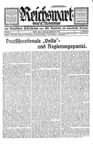 Reichswart vom 05.02.1927