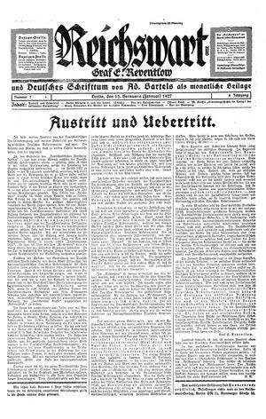 Reichswart vom 12.02.1927