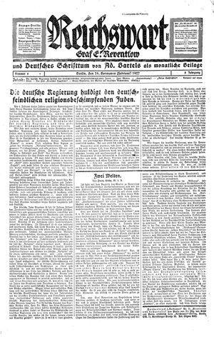 Reichswart vom 19.02.1927