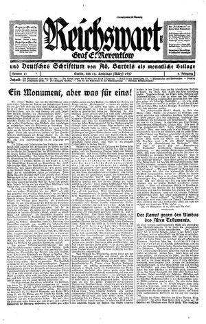 Reichswart vom 12.03.1927