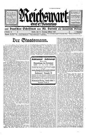 Reichswart vom 19.03.1927