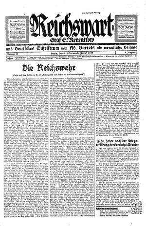 Reichswart vom 09.04.1927