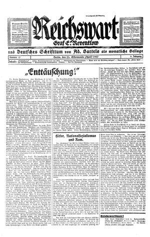 Reichswart vom 23.04.1927