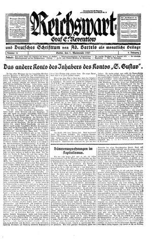 Reichswart vom 07.05.1927