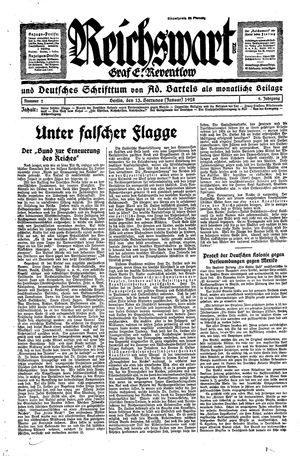 Reichswart vom 13.01.1928