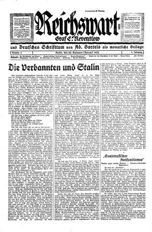 Reichswart vom 20.01.1928