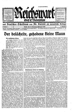 Reichswart vom 10.02.1928