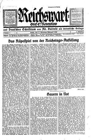 Reichswart vom 17.02.1928