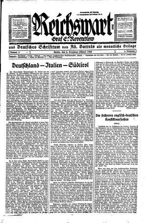 Reichswart vom 02.03.1928