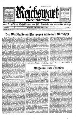 Reichswart vom 09.03.1928