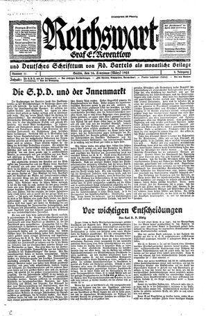 Reichswart vom 16.03.1928