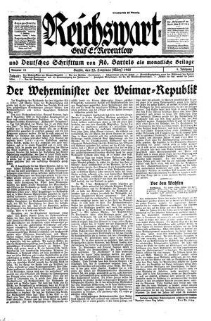 Reichswart vom 23.03.1928