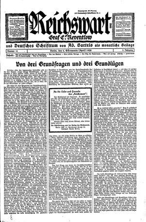 Reichswart vom 06.04.1928