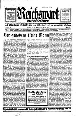 Reichswart vom 27.04.1928
