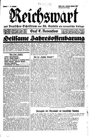 Reichswart vom 01.01.1930