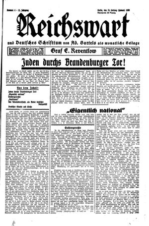 Reichswart vom 24.01.1930
