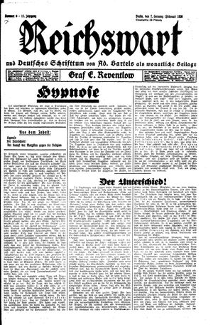 Reichswart vom 07.02.1930