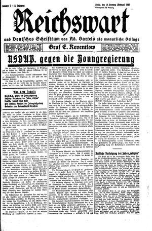 Reichswart vom 14.02.1930