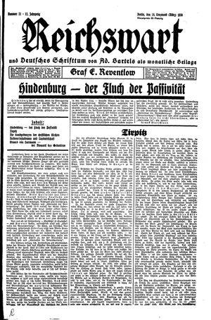 Reichswart vom 14.03.1930