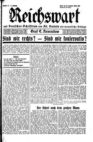 Reichswart vom 28.03.1930