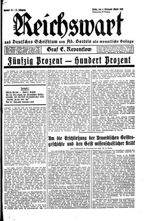 Reichswart vom 04.04.1930