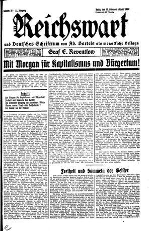 Reichswart vom 19.04.1930