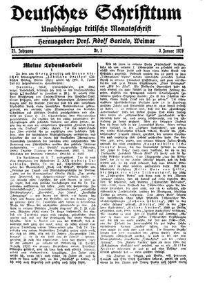 Reichswart vom 03.01.1931
