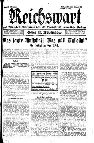 Reichswart vom 10.01.1931